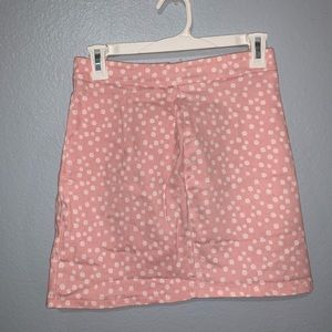 pink and white flower skirt f21